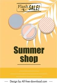summer sale flyer cosmetic icon sketch