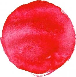 sun drawing red watercolor circle decor