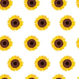 sunflowers background multicolored flat repeating decor
