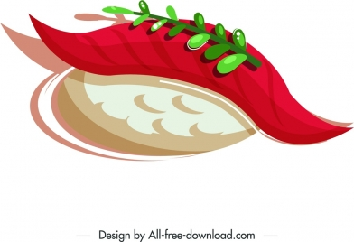 sushi meal icon colorful classical decor