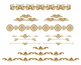 swirl design element set