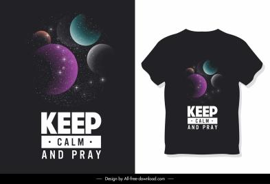 t shirt template dark colorful modern planets decor