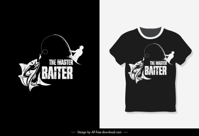 t shirt template fishing sketch dark grunge decor