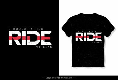 t shirt template texts decor dark black design