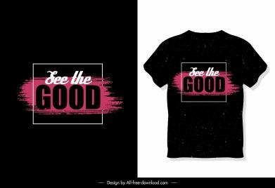 t shirt template wording decor dark design
