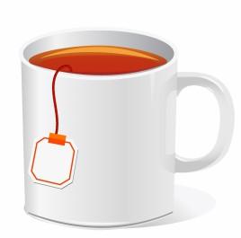 tea cup with teabag