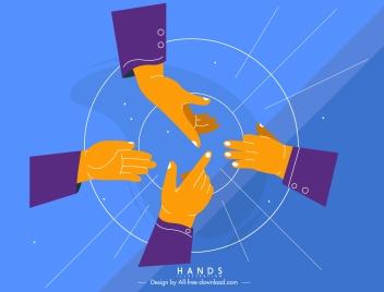 teamwork background communicated hands sketch