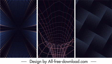 technology abstract backgrounds dark modern dynamic design