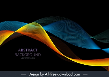 technology background 3d dynamic waving design