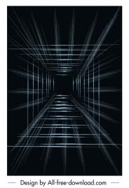 technology background dark 3d geometric depth dynamic design