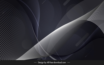 technology background dark 3d waving design