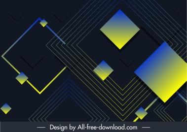technology background dark colored geometric decor
