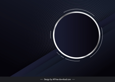 technology background dark modern flat design circle decor