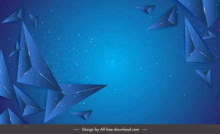 technology background dynamic 3d pyramid decor blue monochrome