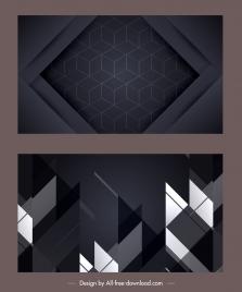 technology background modern dark geometric abstract decor
