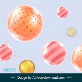 technology background modern shiny floating balls decor