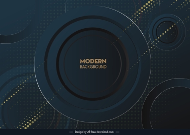 technology background template modern dark circles sketch