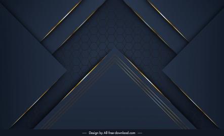 technology background template modern elegant dark geometric shapes