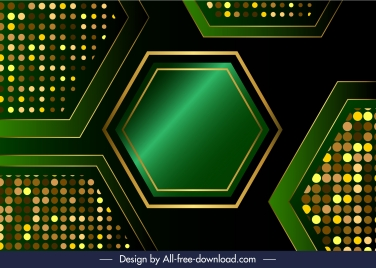 technology background template shiny sparkling hexagon surface