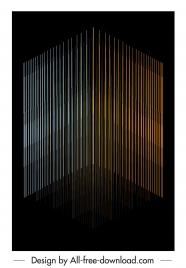 technology background vertical lines dark 3d design