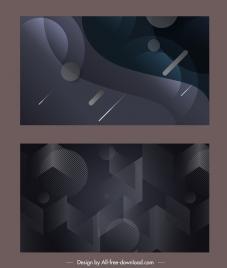 technology backgrounds modern dark abstract geometric decor