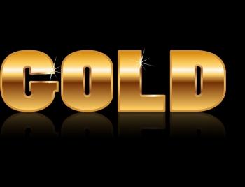 text background shiny sparkling golden decoration