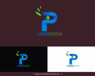 text logotype modern colored design leaves decor