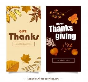thanks giving card templates dark classic plants decor