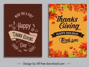 thanksgiving poster templates dark colored leaves ribbon decor
