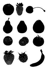 this is vertor silhoullete for several fruitthanks