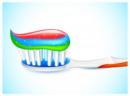three color toothpaste