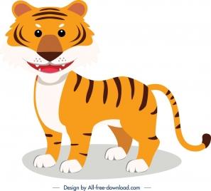 tiger animal icon cute cartoon character sketch