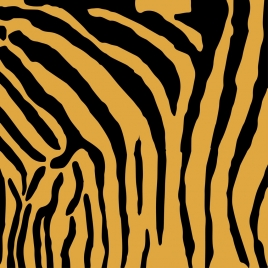 tiger leather background flat black yellow design