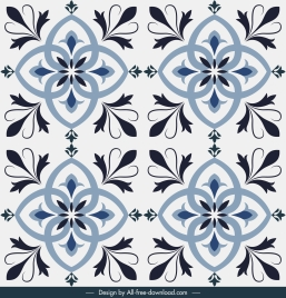tile pattern floral sketch symmetric repeating decor
