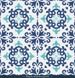 tile pattern template flat classical symmetric repeating decor