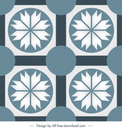 tile pattern template flat symmetric repeating decor