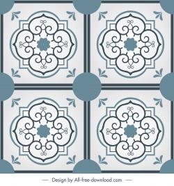 tile pattern templates classic elegant symmetric decor