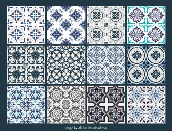 tile pattern templates classical symmetric repeating decor