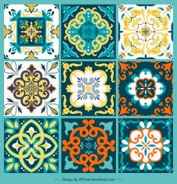tile pattern templates classical symmetric shapes