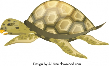 tortoise creature icon shiny green sketch crawling gesture