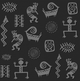 traditional pattern design elements abstract flat shapes decor