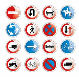 Traffic sign icons