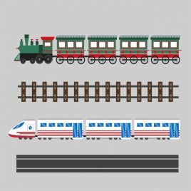 train system design elements classical and modern styles