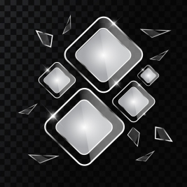 transparent glass background shiny black white geometric design