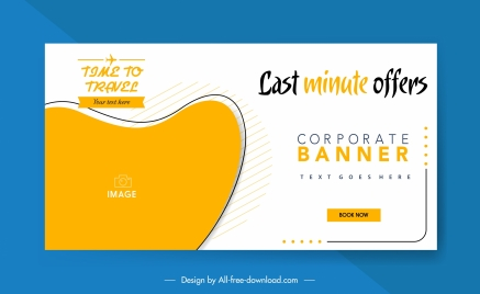 travel advertising banner bright abstract curves sketch