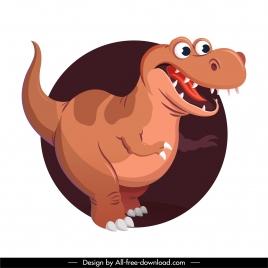trex dinosaur icon funny cartoon character sketch