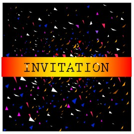 triangle abstract background for invitation card