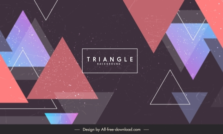 triangles background modern flat colorful design