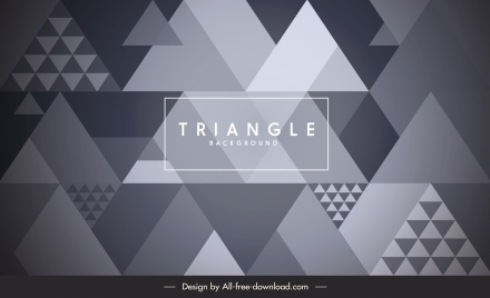 triangles background modern flat illusion decor