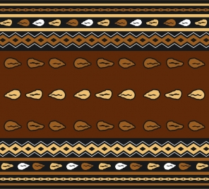 tribal classical pattern design repeating decoration style